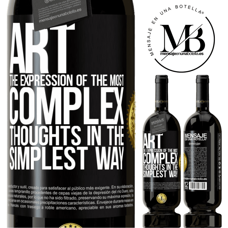 29,95 € Free Shipping | Red Wine Premium Edition MBS® Reserva ART. The expression of the most complex thoughts in the simplest way Black Label. Customizable label Reserva 12 Months Harvest 2013 Tempranillo