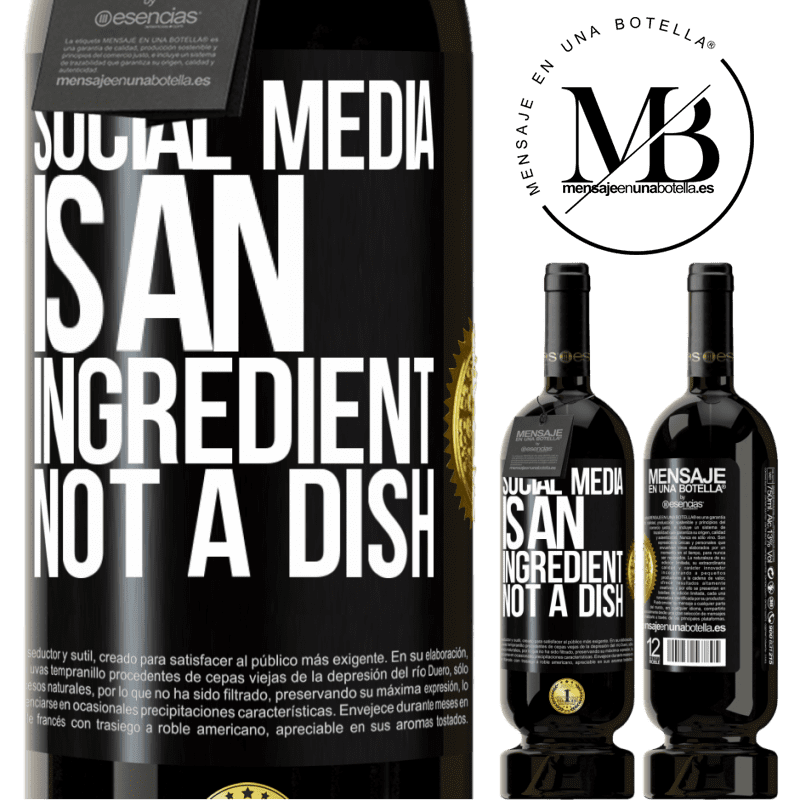 29,95 € Free Shipping | Red Wine Premium Edition MBS® Reserva Social media is an ingredient, not a dish Black Label. Customizable label Reserva 12 Months Harvest 2013 Tempranillo