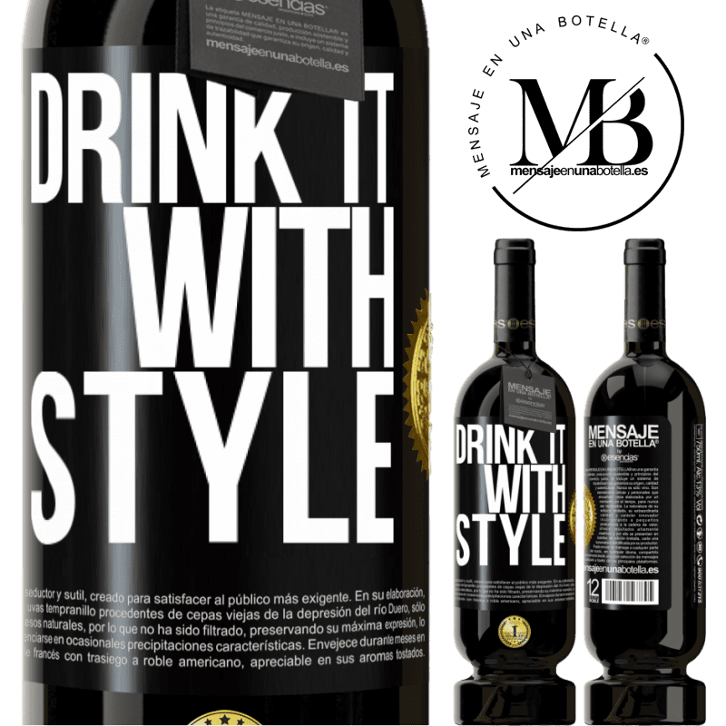 29,95 € Free Shipping | Red Wine Premium Edition MBS® Reserva Drink it with style Black Label. Customizable label Reserva 12 Months Harvest 2013 Tempranillo
