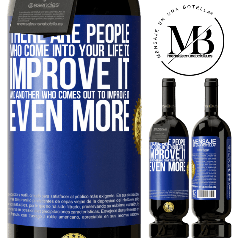 29,95 € Free Shipping | Red Wine Premium Edition MBS® Reserva There are people who come into your life to improve it and another who comes out to improve it even more Blue Label. Customizable label Reserva 12 Months Harvest 2013 Tempranillo