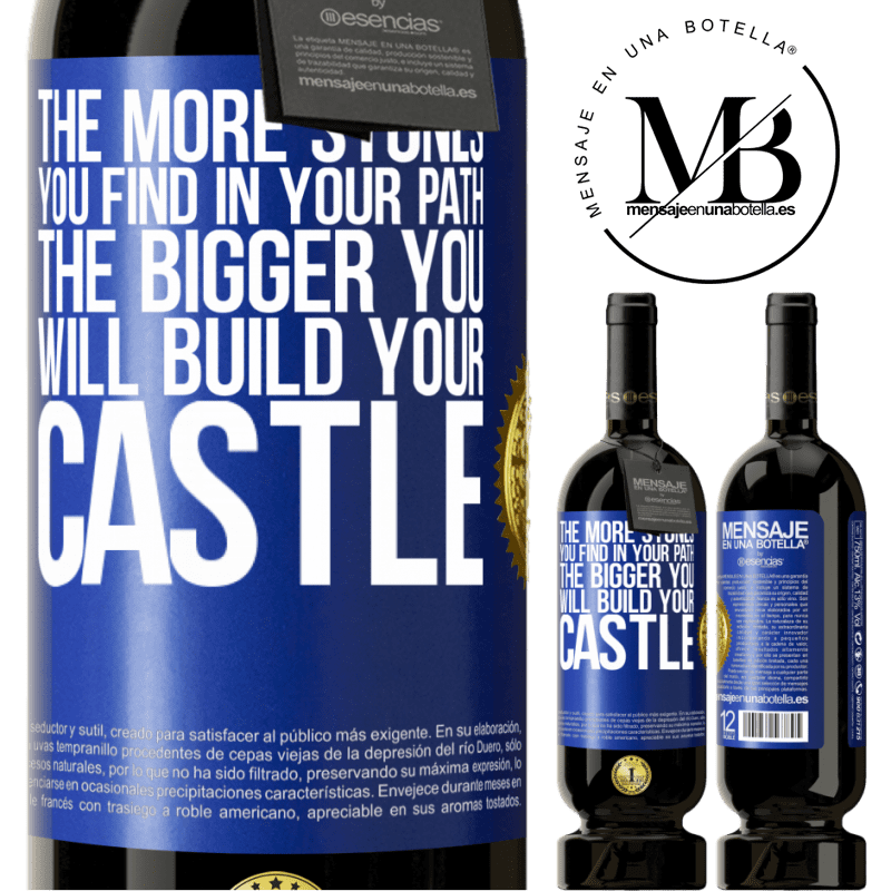 29,95 € Free Shipping | Red Wine Premium Edition MBS® Reserva The more stones you find in your path, the bigger you will build your castle Blue Label. Customizable label Reserva 12 Months Harvest 2013 Tempranillo