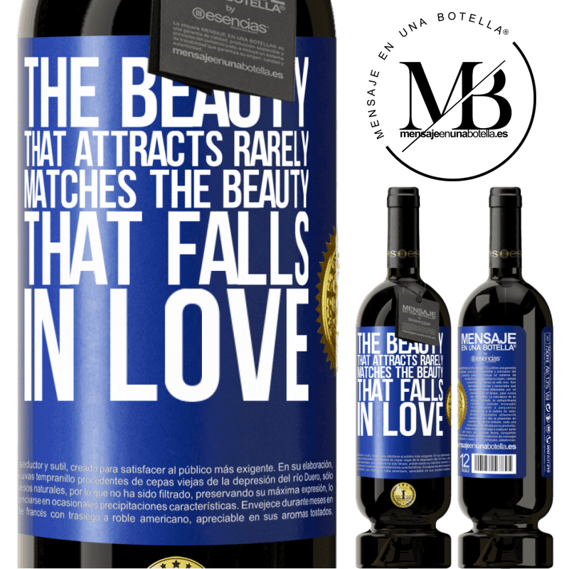 29,95 € Free Shipping | Red Wine Premium Edition MBS® Reserva The beauty that attracts rarely matches the beauty that falls in love Blue Label. Customizable label Reserva 12 Months Harvest 2013 Tempranillo
