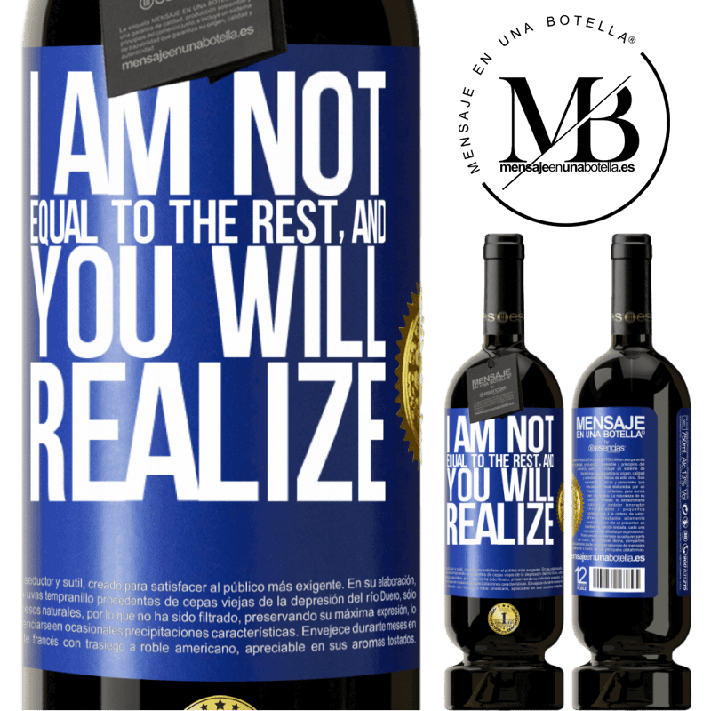 29,95 € Free Shipping | Red Wine Premium Edition MBS® Reserva I am not equal to the rest, and you will realize Blue Label. Customizable label Reserva 12 Months Harvest 2013 Tempranillo
