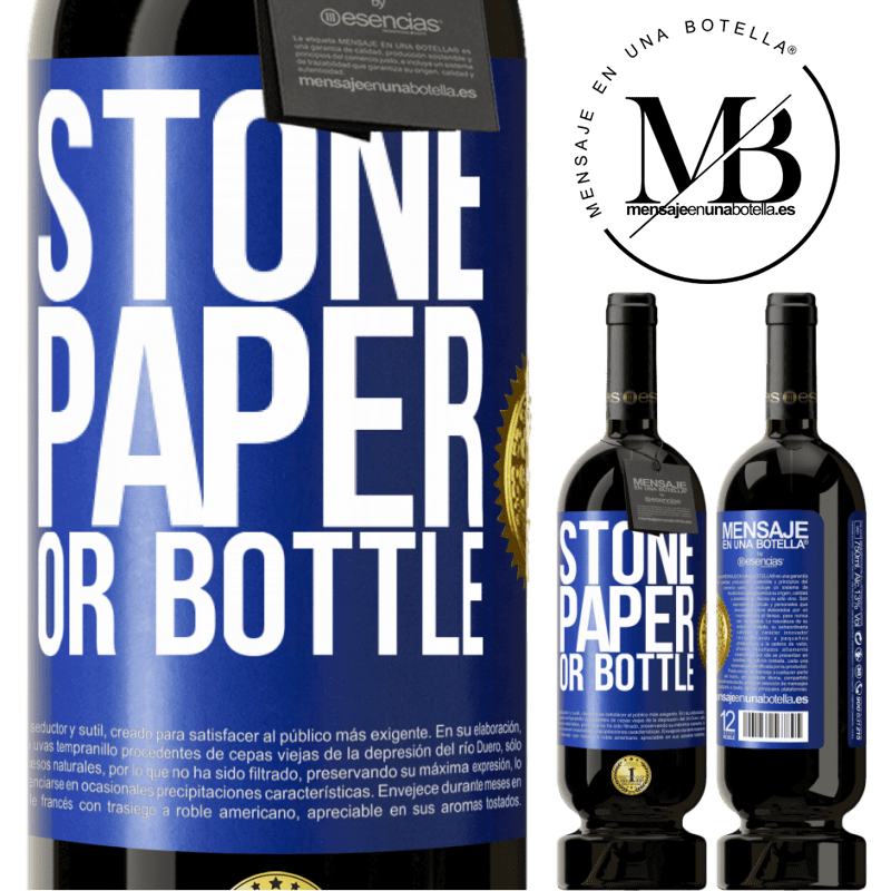 29,95 € Free Shipping   Red Wine Premium Edition MBS® Reserva Stone, paper or bottle Blue Label. Customizable label Reserva 12 Months Harvest 2013 Tempranillo