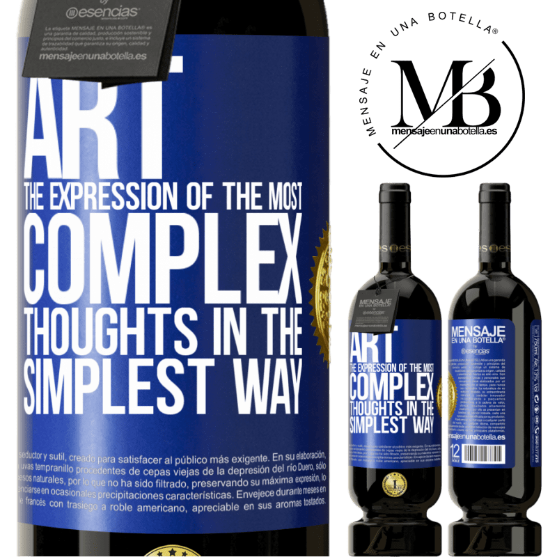 29,95 € Free Shipping | Red Wine Premium Edition MBS® Reserva ART. The expression of the most complex thoughts in the simplest way Blue Label. Customizable label Reserva 12 Months Harvest 2013 Tempranillo