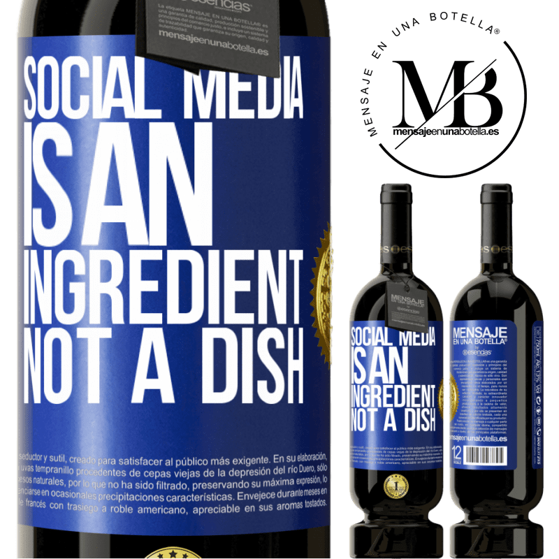 29,95 € Free Shipping | Red Wine Premium Edition MBS® Reserva Social media is an ingredient, not a dish Blue Label. Customizable label Reserva 12 Months Harvest 2013 Tempranillo