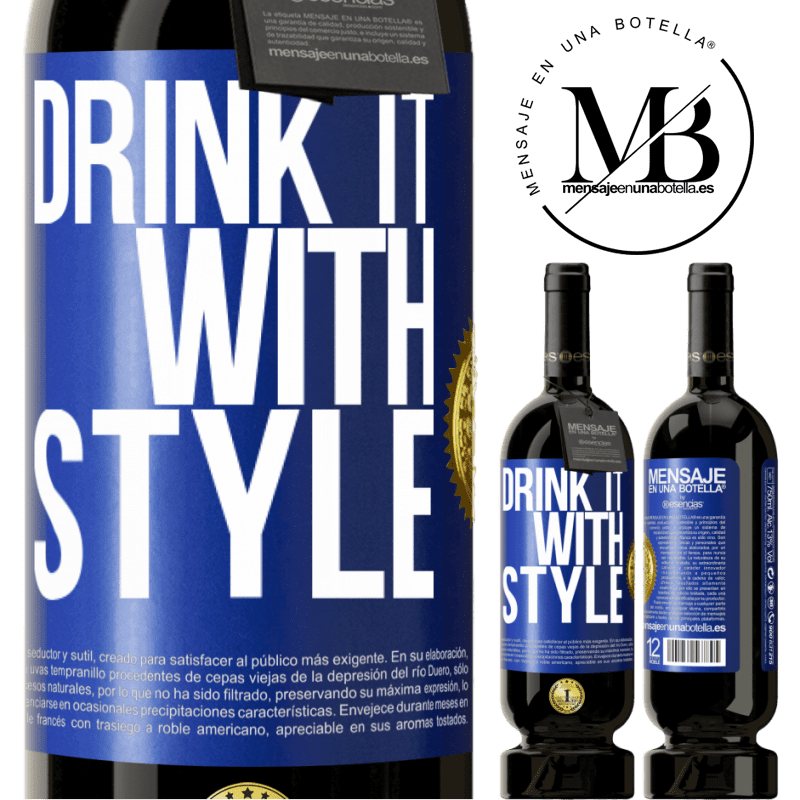 29,95 € Free Shipping | Red Wine Premium Edition MBS® Reserva Drink it with style Blue Label. Customizable label Reserva 12 Months Harvest 2013 Tempranillo