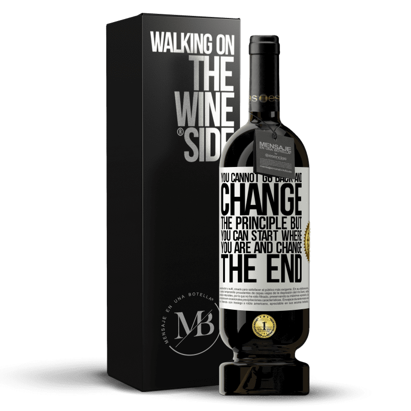 29,95 € Free Shipping | Red Wine Premium Edition MBS® Reserva You cannot go back and change the principle. But you can start where you are and change the end White Label. Customizable label Reserva 12 Months Harvest 2013 Tempranillo