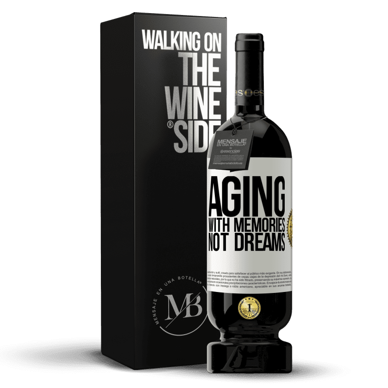 29,95 € Free Shipping | Red Wine Premium Edition MBS® Reserva Aging with memories, not dreams White Label. Customizable label Reserva 12 Months Harvest 2013 Tempranillo