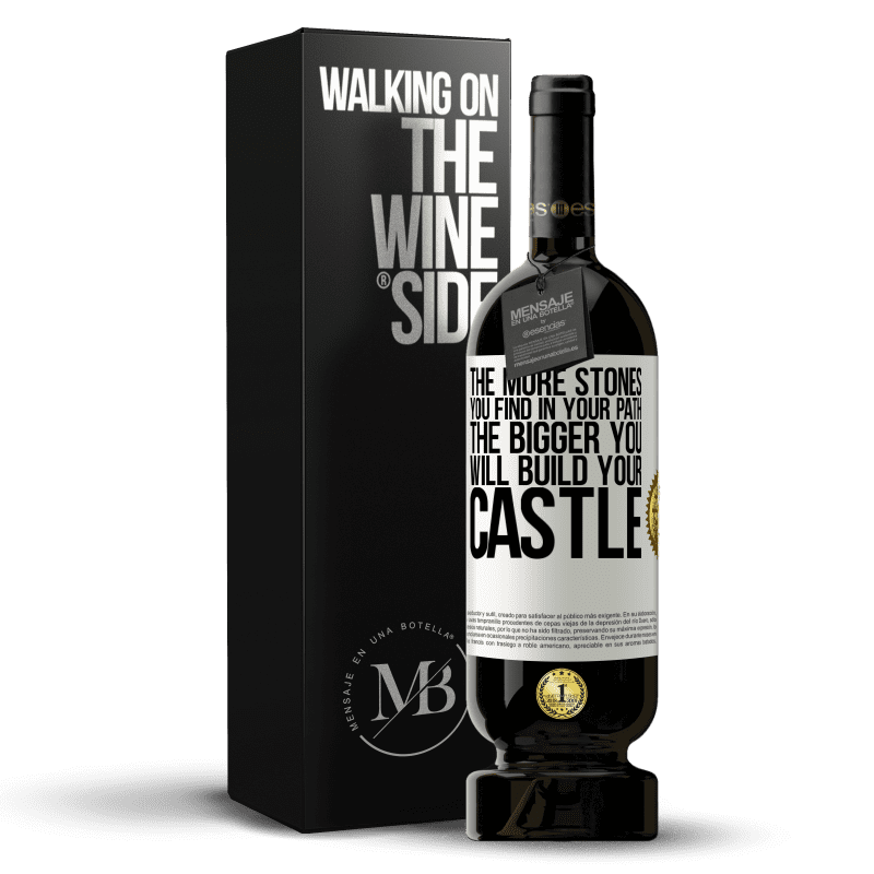 29,95 € Free Shipping | Red Wine Premium Edition MBS® Reserva The more stones you find in your path, the bigger you will build your castle White Label. Customizable label Reserva 12 Months Harvest 2013 Tempranillo
