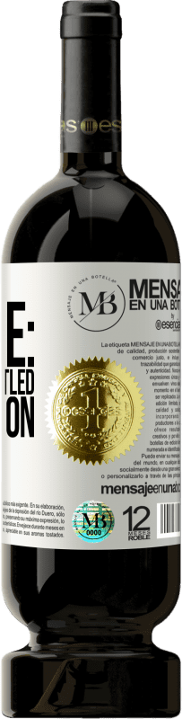 «Notice: contains bottled perfection» Premium Edition MBS® Reserva