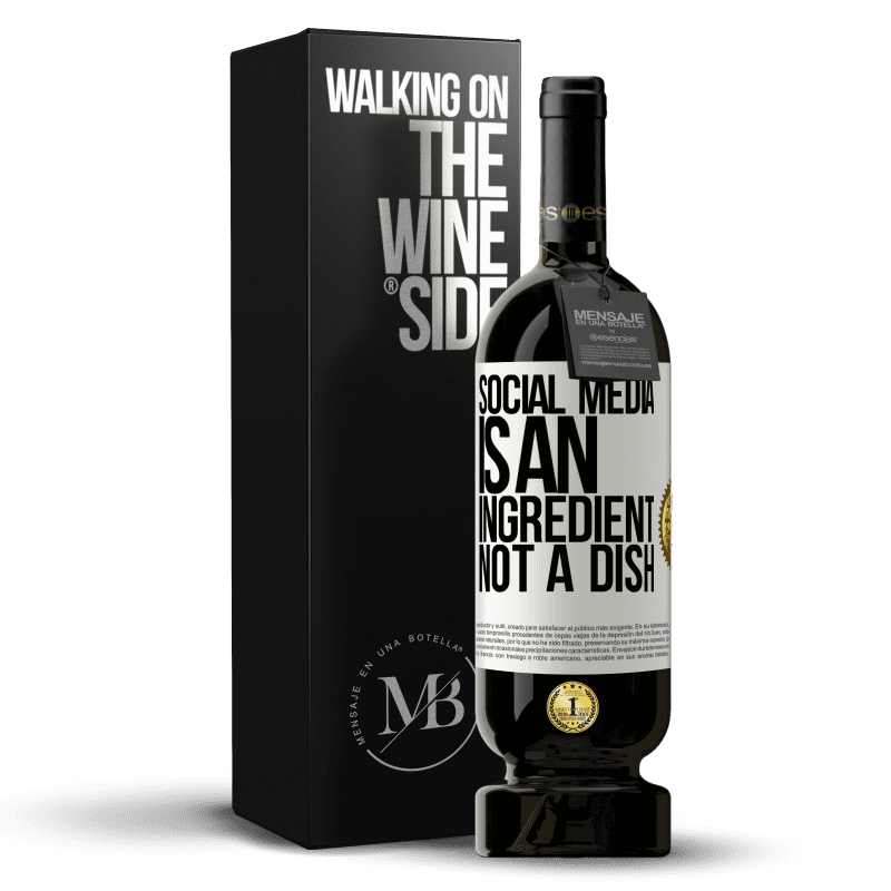 29,95 € Free Shipping | Red Wine Premium Edition MBS® Reserva Social media is an ingredient, not a dish White Label. Customizable label Reserva 12 Months Harvest 2013 Tempranillo