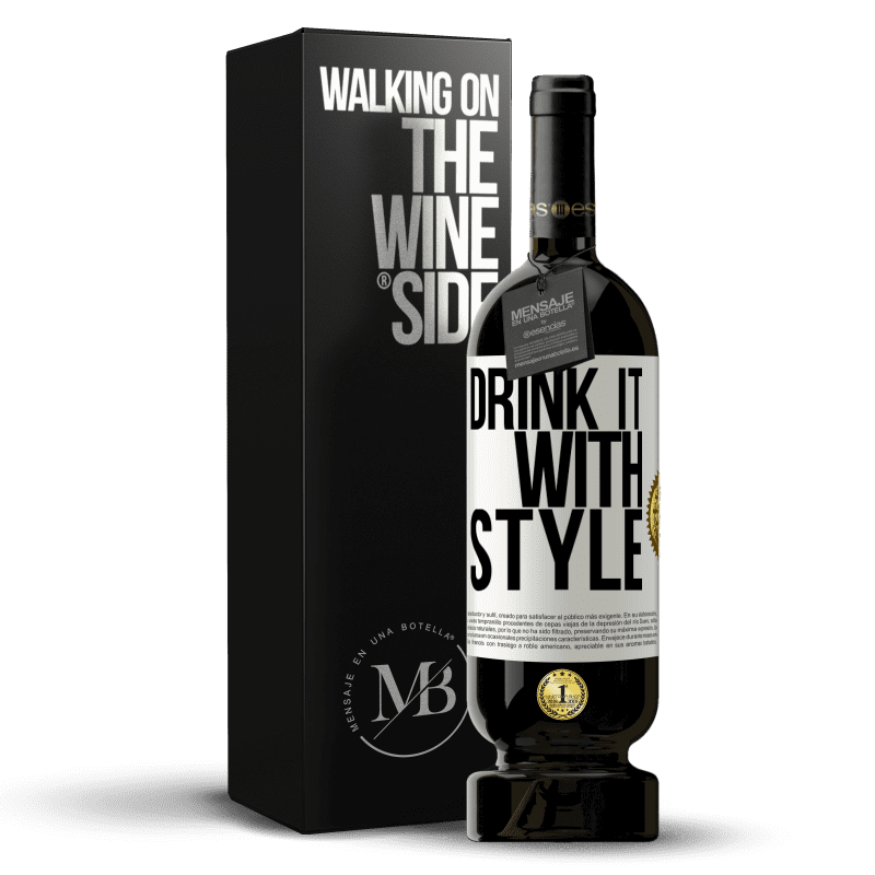 29,95 € Free Shipping | Red Wine Premium Edition MBS® Reserva Drink it with style White Label. Customizable label Reserva 12 Months Harvest 2013 Tempranillo
