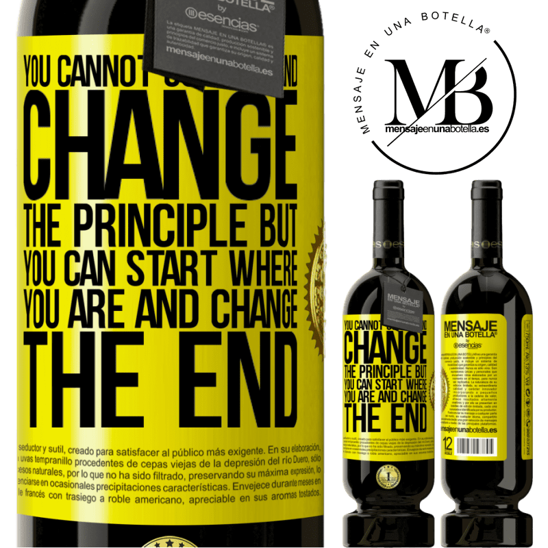 29,95 € Free Shipping | Red Wine Premium Edition MBS® Reserva You cannot go back and change the principle. But you can start where you are and change the end Yellow Label. Customizable label Reserva 12 Months Harvest 2013 Tempranillo