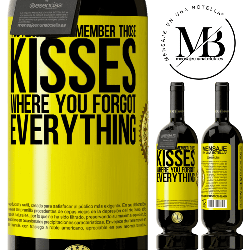 29,95 € Free Shipping | Red Wine Premium Edition MBS® Reserva You always remember those kisses where you forgot everything Yellow Label. Customizable label Reserva 12 Months Harvest 2013 Tempranillo