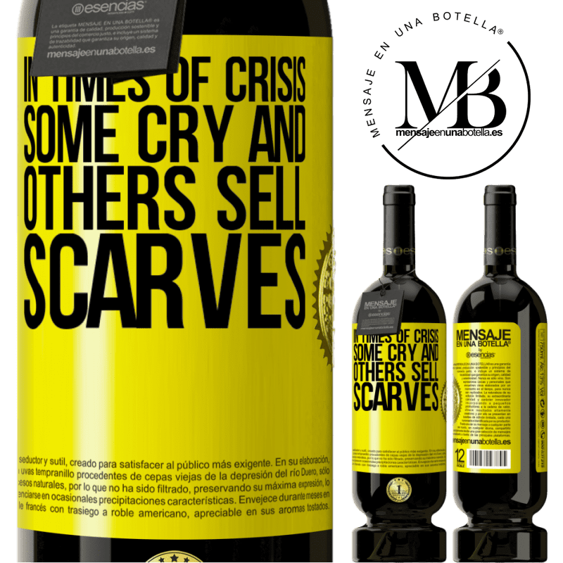 29,95 € Free Shipping | Red Wine Premium Edition MBS® Reserva In times of crisis, some cry and others sell scarves Yellow Label. Customizable label Reserva 12 Months Harvest 2013 Tempranillo