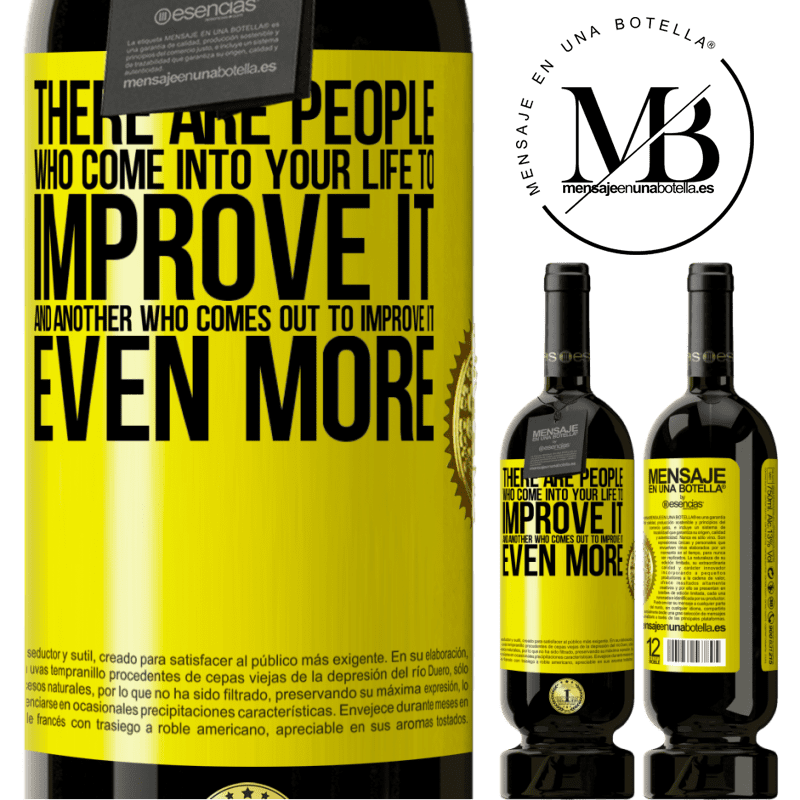 29,95 € Free Shipping | Red Wine Premium Edition MBS® Reserva There are people who come into your life to improve it and another who comes out to improve it even more Yellow Label. Customizable label Reserva 12 Months Harvest 2013 Tempranillo