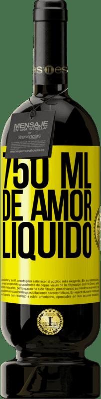 29,95 € Envio grátis | Vinho tinto Edição Premium MBS® Reserva 750 ml de amor líquido Etiqueta Amarela. Etiqueta personalizável Reserva 12 Meses Colheita 2013 Tempranillo