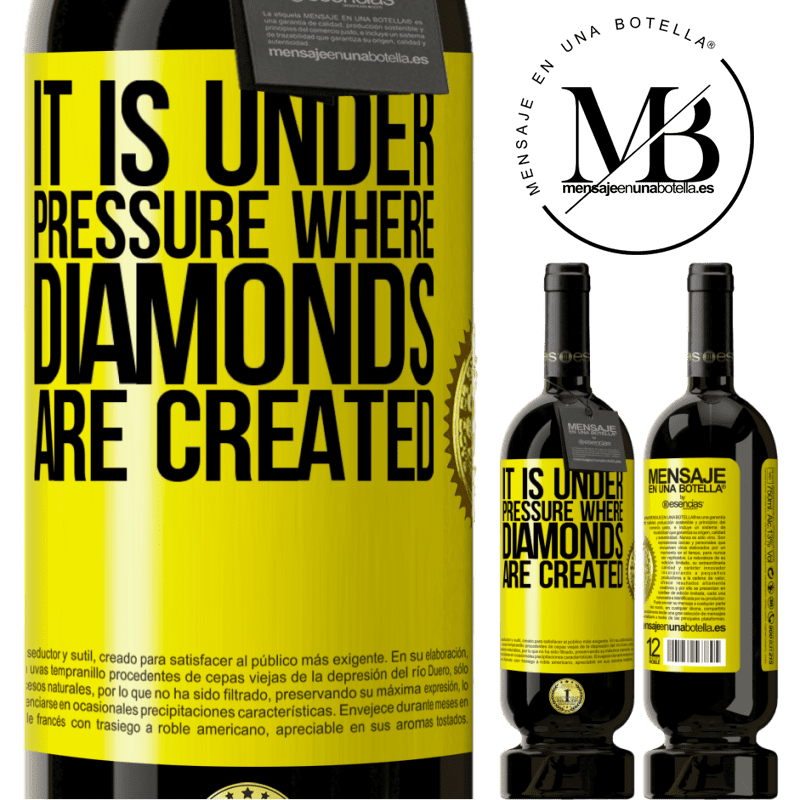 29,95 € Free Shipping | Red Wine Premium Edition MBS® Reserva It is under pressure where diamonds are created Yellow Label. Customizable label Reserva 12 Months Harvest 2013 Tempranillo