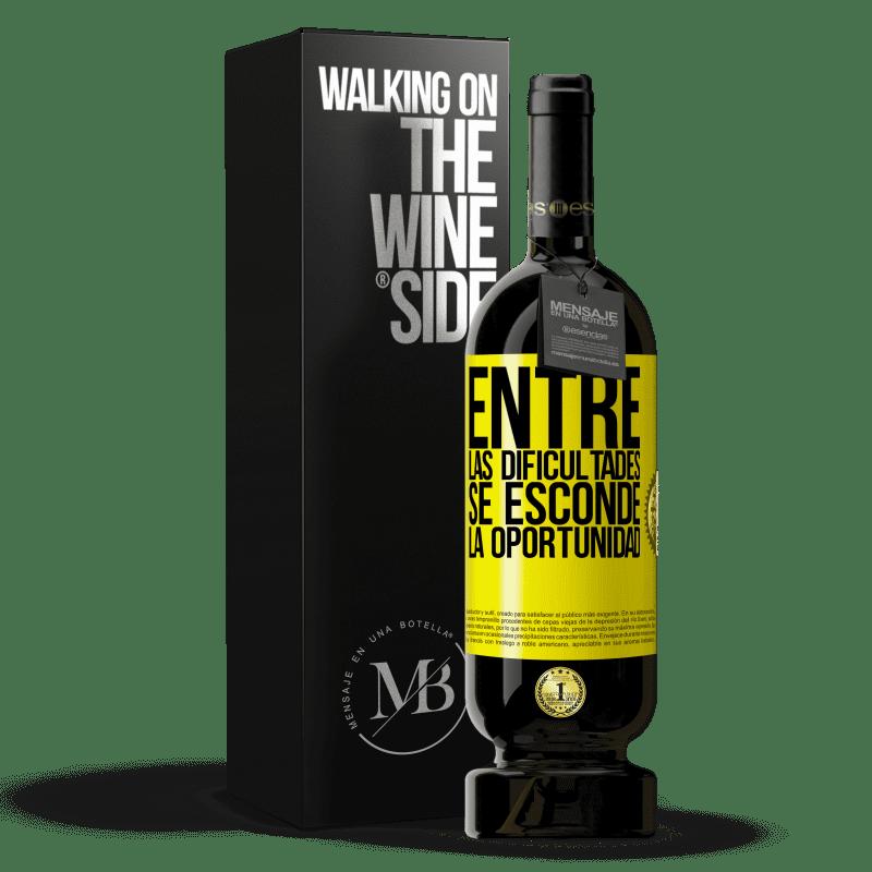 29,95 € Envoi gratuit   Vin rouge Édition Premium MBS® Reserva Parmi les difficultés que l'opportunité cache Étiquette Jaune. Étiquette personnalisable Reserva 12 Mois Récolte 2013 Tempranillo
