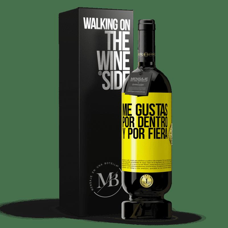 29,95 € Envoi gratuit   Vin rouge Édition Premium MBS® Reserva Je t'aime à l'intérieur comme à l'extérieur Étiquette Jaune. Étiquette personnalisable Reserva 12 Mois Récolte 2013 Tempranillo