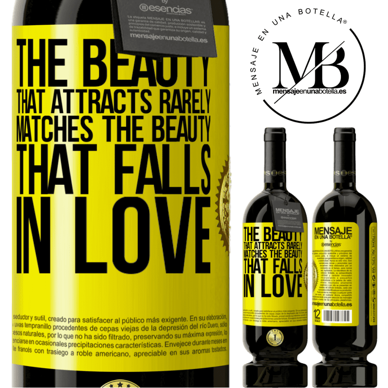 29,95 € Free Shipping | Red Wine Premium Edition MBS® Reserva The beauty that attracts rarely matches the beauty that falls in love Yellow Label. Customizable label Reserva 12 Months Harvest 2013 Tempranillo