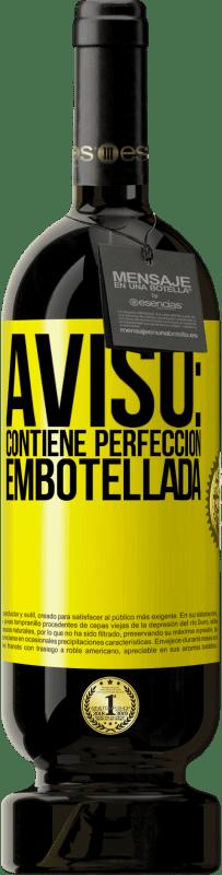 29,95 € Envío gratis | Vino Tinto Edición Premium MBS® Reserva Aviso: contiene perfección embotellada Etiqueta Amarilla. Etiqueta personalizable Reserva 12 Meses Cosecha 2013 Tempranillo