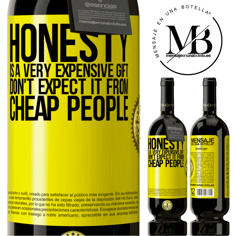 29,95 € Free Shipping | Red Wine Premium Edition MBS® Reserva Honesty is a very expensive gift. Don't expect it from cheap people Yellow Label. Customizable label Reserva 12 Months Harvest 2013 Tempranillo