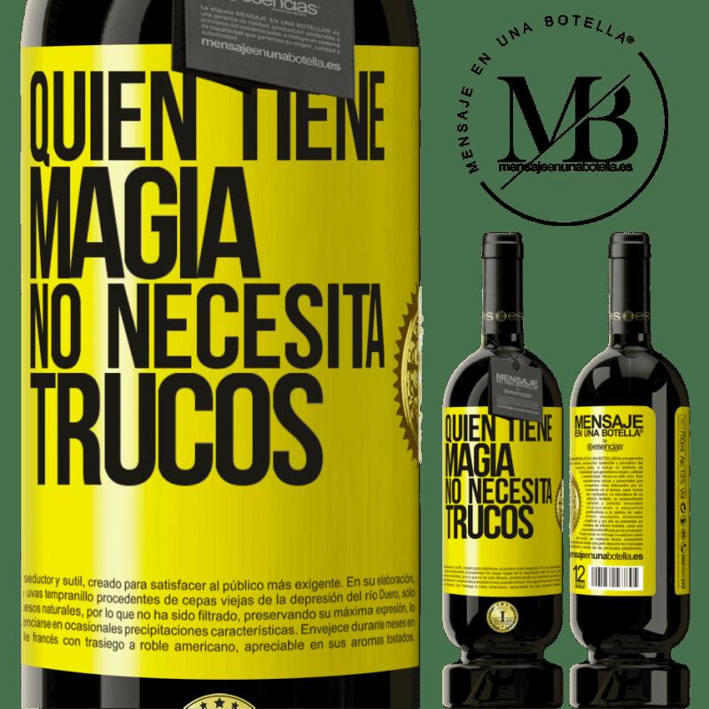 29,95 € Envoi gratuit   Vin rouge Édition Premium MBS® Reserva Qui a de la magie n'a pas besoin de tours Étiquette Jaune. Étiquette personnalisable Reserva 12 Mois Récolte 2013 Tempranillo