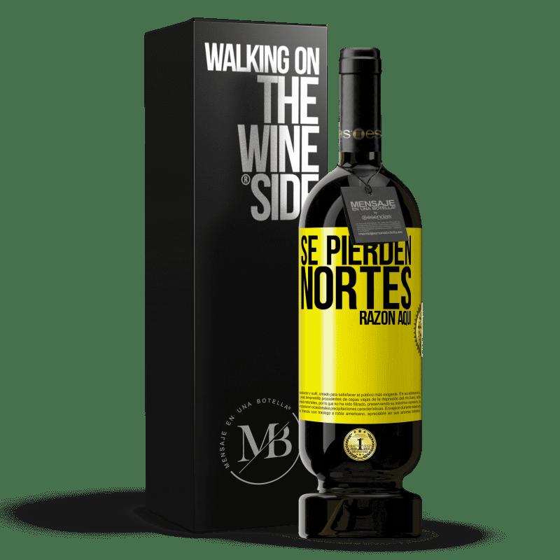 29,95 € Envoi gratuit   Vin rouge Édition Premium MBS® Reserva Les Nortes sont perdus. Raison ici Étiquette Jaune. Étiquette personnalisable Reserva 12 Mois Récolte 2013 Tempranillo