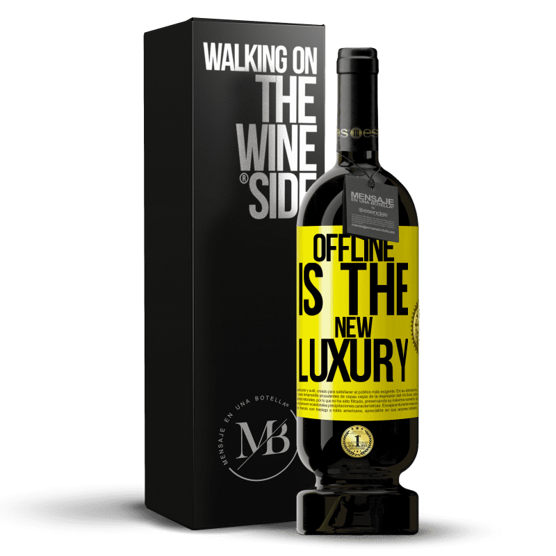 29,95 € Free Shipping | Red Wine Premium Edition MBS® Reserva Offline is the new luxury Yellow Label. Customizable label Reserva 12 Months Harvest 2013 Tempranillo