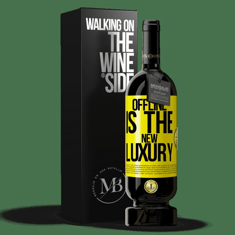 29,95 € Envoi gratuit | Vin rouge Édition Premium MBS® Reserva Offline is the new luxury Étiquette Jaune. Étiquette personnalisable Reserva 12 Mois Récolte 2013 Tempranillo