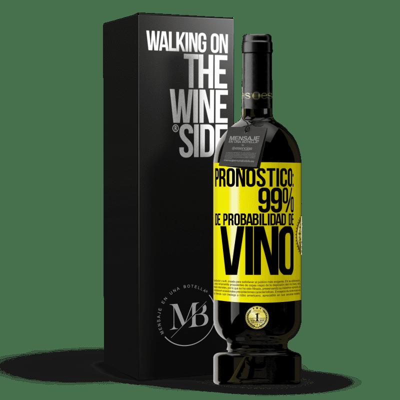 29,95 € Envoi gratuit   Vin rouge Édition Premium MBS® Reserva Prévision: 99% de chances de vin Étiquette Jaune. Étiquette personnalisable Reserva 12 Mois Récolte 2013 Tempranillo