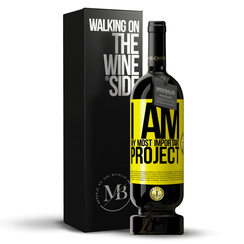 29,95 € Free Shipping | Red Wine Premium Edition MBS® Reserva I am my most important project Yellow Label. Customizable label Reserva 12 Months Harvest 2013 Tempranillo