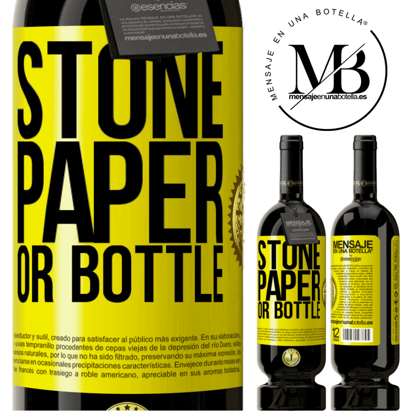 29,95 € Free Shipping   Red Wine Premium Edition MBS® Reserva Stone, paper or bottle Yellow Label. Customizable label Reserva 12 Months Harvest 2013 Tempranillo