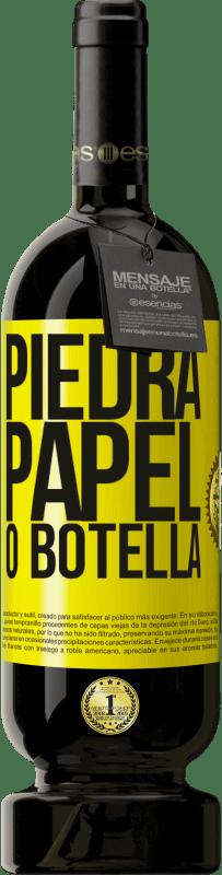 29,95 € Envío gratis | Vino Tinto Edición Premium MBS® Reserva Piedra, papel o botella Etiqueta Amarilla. Etiqueta personalizable Reserva 12 Meses Cosecha 2013 Tempranillo