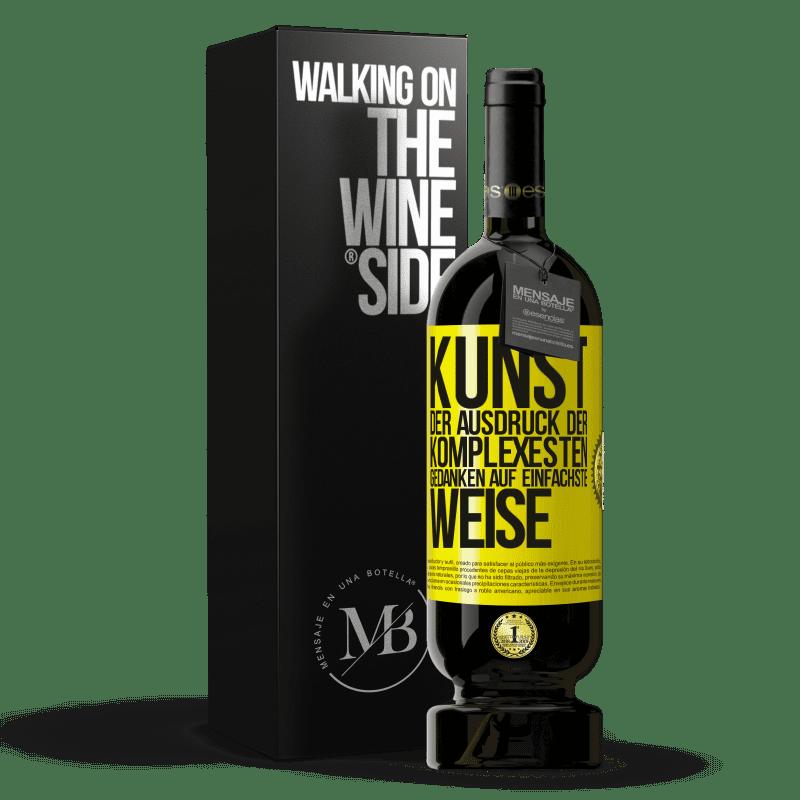 29,95 € Kostenloser Versand   Rotwein Premium Edition MBS® Reserva KUNST. Der Ausdruck der komplexesten Gedanken auf einfachste Weise Gelbes Etikett. Anpassbares Etikett Reserva 12 Monate Ernte 2013 Tempranillo