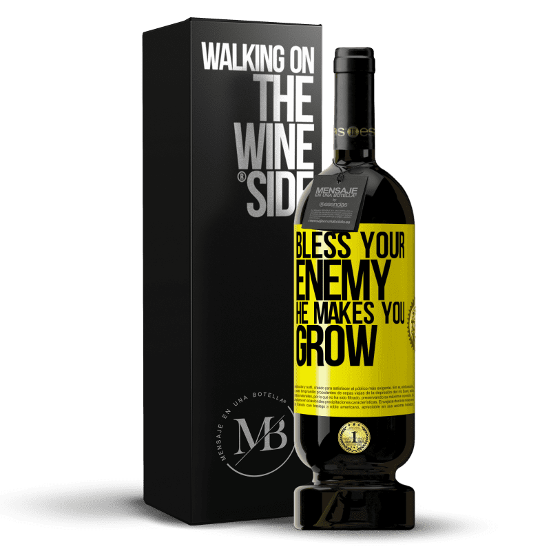 29,95 € Free Shipping | Red Wine Premium Edition MBS® Reserva Bless your enemy. He makes you grow Yellow Label. Customizable label Reserva 12 Months Harvest 2013 Tempranillo