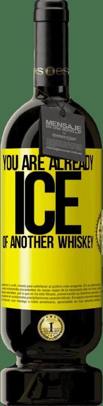29,95 € | Red Wine Premium Edition MBS Reserva You are already ice of another whiskey Yellow Label. Customizable label I.G.P. Vino de la Tierra de Castilla y León Aging in oak barrels 12 Months Harvest 2013 Spain Tempranillo