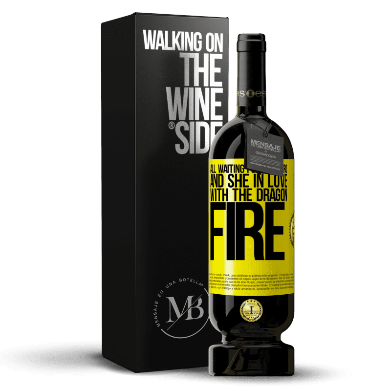 29,95 € Free Shipping | Red Wine Premium Edition MBS® Reserva All waiting for the hero and she in love with the dragon fire Yellow Label. Customizable label Reserva 12 Months Harvest 2013 Tempranillo