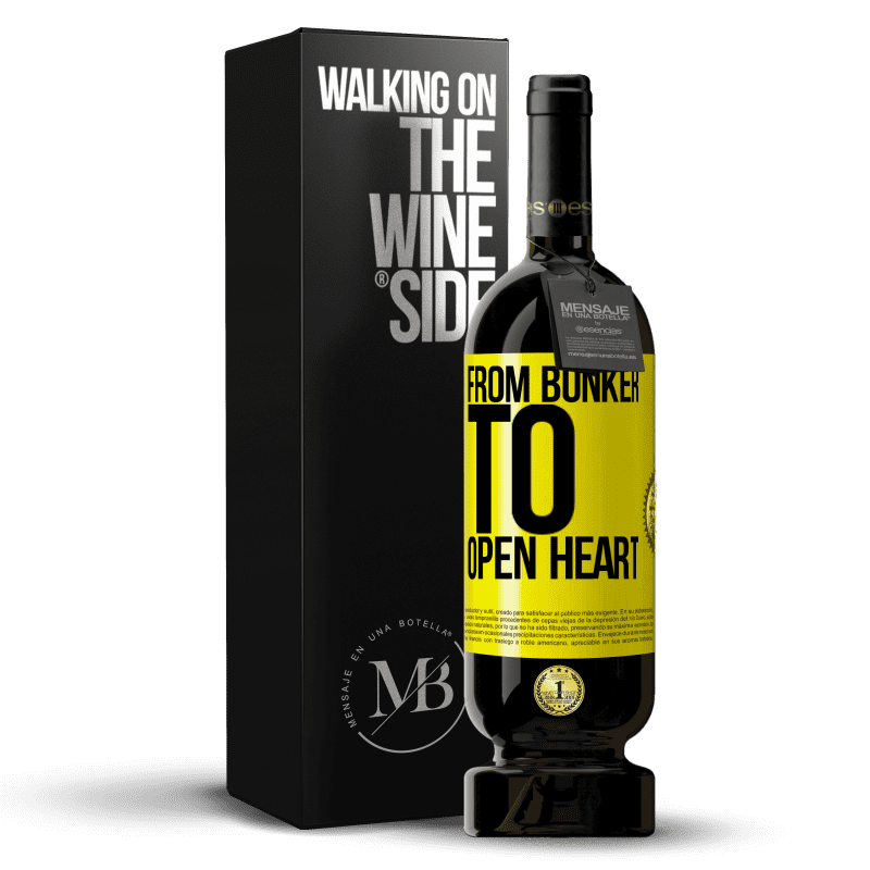 29,95 € Free Shipping   Red Wine Premium Edition MBS® Reserva From bunker to open heart Yellow Label. Customizable label Reserva 12 Months Harvest 2013 Tempranillo