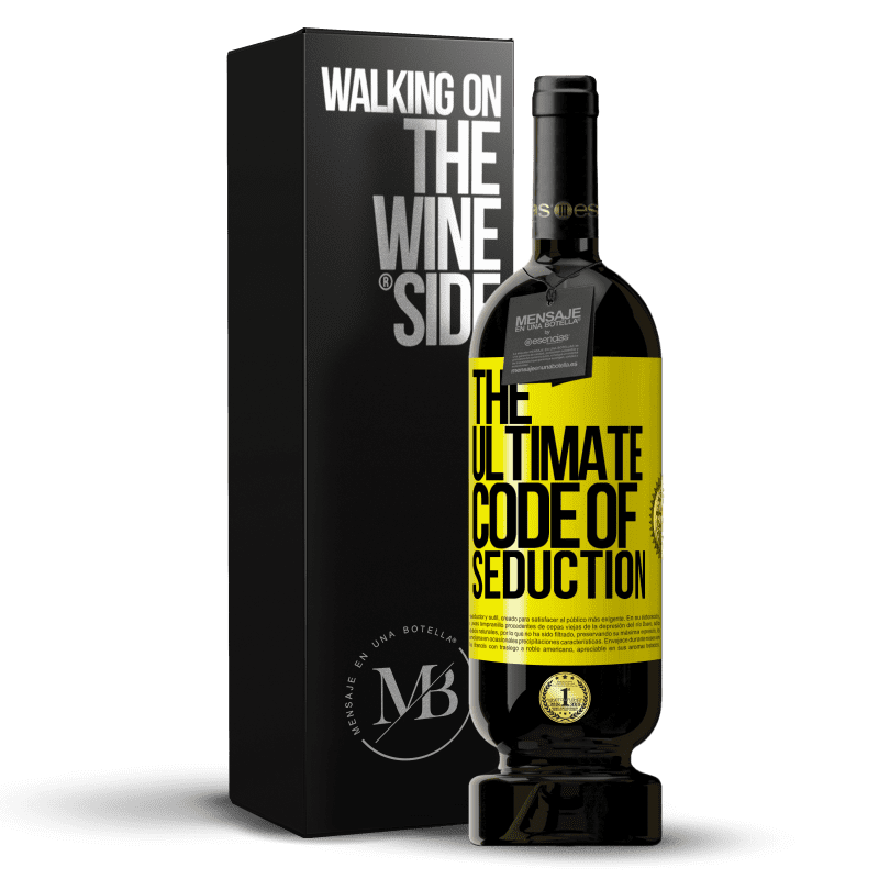 29,95 € Free Shipping | Red Wine Premium Edition MBS® Reserva The ultimate code of seduction Yellow Label. Customizable label Reserva 12 Months Harvest 2013 Tempranillo