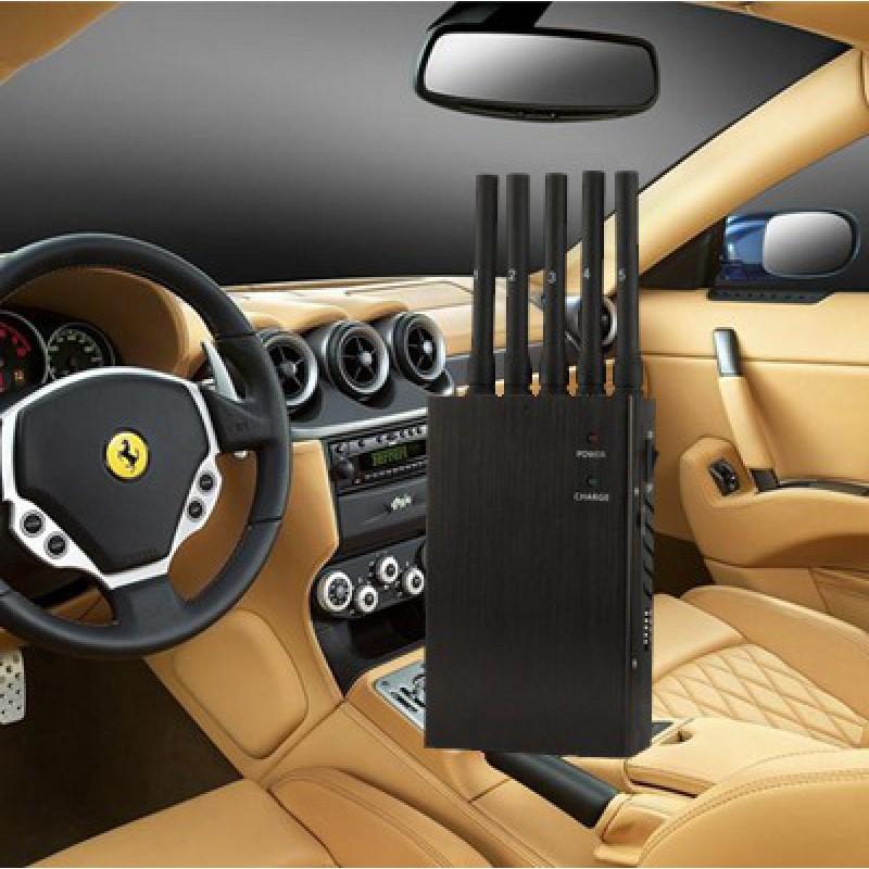 135,95 € 免费送货   手机干扰器 5频带手持式。强大的便携式信号阻断器 GSM Handheld