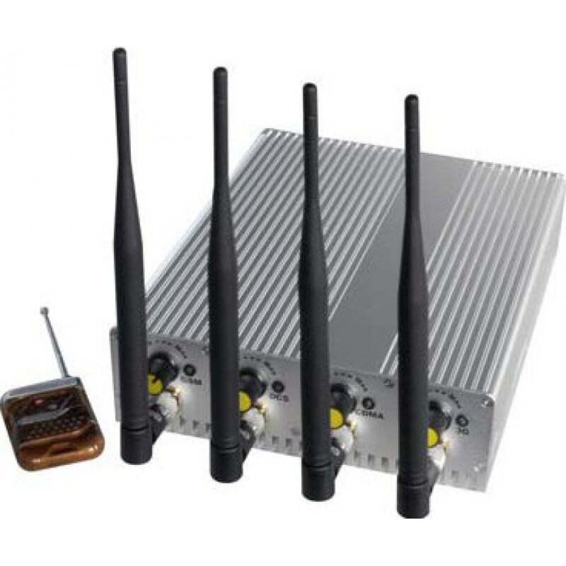 Bloqueurs de Téléphones Mobiles 4 antennes. Puissant bloqueur de signal