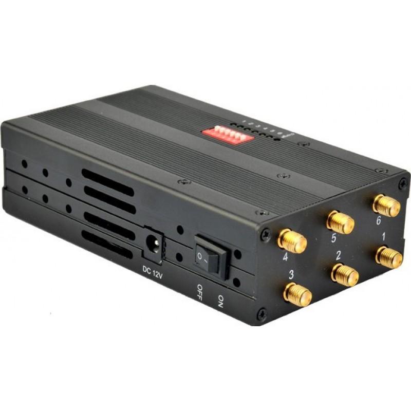 Блокаторы мобильных телефонов 6 полос. Мощный портативный блокатор сигналов GSM Portable