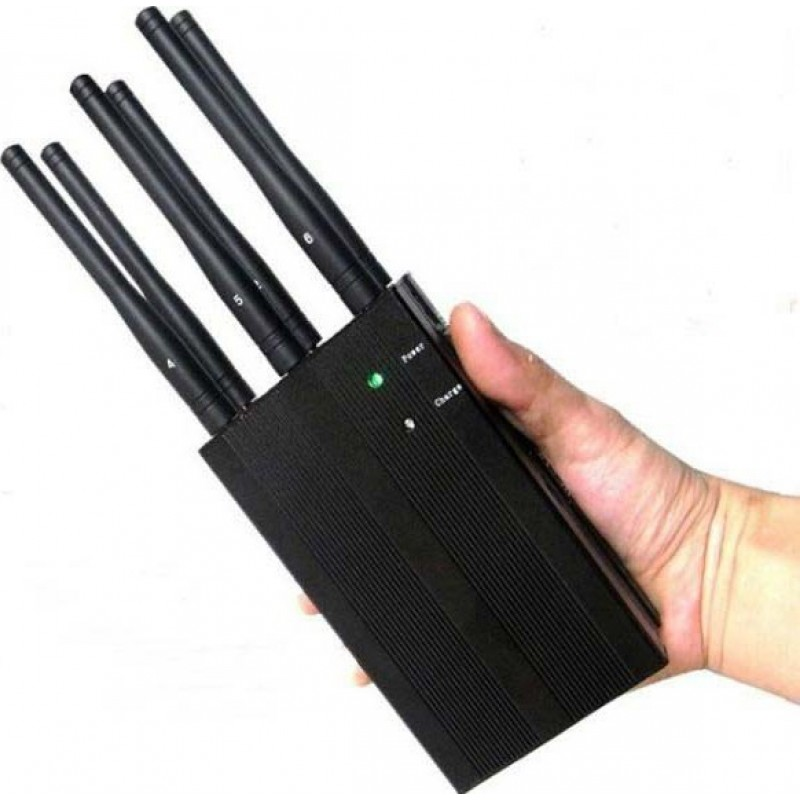 Cell Phone Jammers 6 Bands. High power portable signal blocker GSM Portable