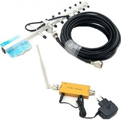 79,95 € Envío gratis | Amplificadores de Señal Teléfono celular mini amplificador de señal. Antena omnidireccional. Antena Yagi. Cable de 10m CDMA