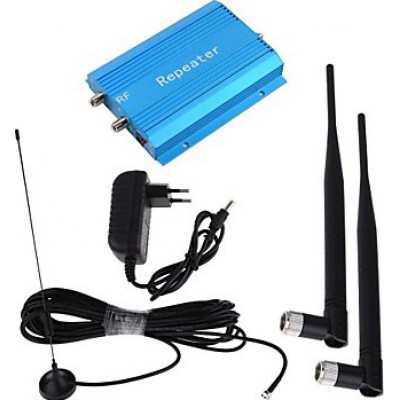 Cell phone signal booster and antenna