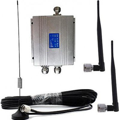 Amplificador de señal de teléfono móvil. Kit amplificador y antena. Pantalla LCD