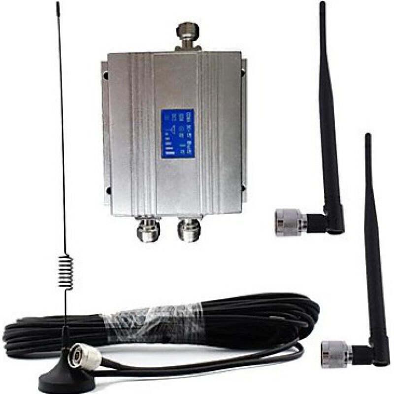 Amplificadores de Señal Amplificador de señal de teléfono móvil. Kit amplificador y antena. Pantalla LCD CDMA